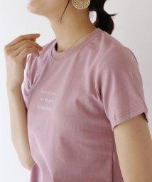 BLUEEAST/半袖レタリングTシャツ/503291356