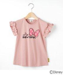SHOO・LA・RUE(Kids) /【Disney/ディズニー】「ミニーマウス」デザイン 袖フリルバックスタイルTシャツ/503292804