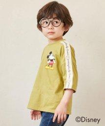 SHOO・LA・RUE(Kids) /【Disney/ディズニー】「ミッキーマウス」デザイン ロゴテープTシャツ/503292805