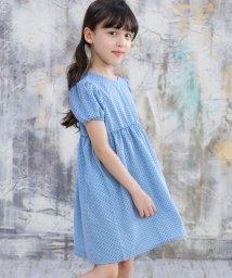 子供服Bee/パフスリーブドットワンピース/503155061