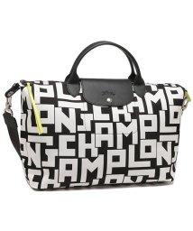 Longchamp/ロンシャン トートバッグ ショルダーバッグ レディース LONGCHAMP 1630 413 067 ブラック ホワイト A4対応/503286757