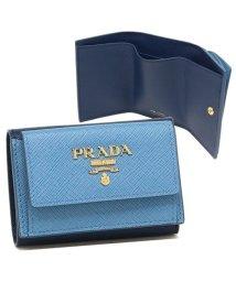 PRADA/プラダ 折財布 レディース PRADA 1MH021 ZLP F0PL5 ブルー/503286952