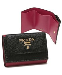PRADA/プラダ 折財布 レディース PRADA 1MH021 ZLP F061H ブラック ピンク/503287076