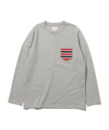 BEAMS MEN/BEAMS / トリコロール リブポケット Tシャツ/503291297