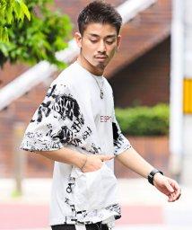 LUXSTYLE/メッシュコンビTシャツ/Tシャツ メンズ 半袖 5分袖 ビッグシルエット メッシュ/503292862
