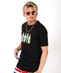 LUXSTYLE/サーフボードプリント半袖Tシャツ/Tシャツ メンズ 半袖 ロゴ プリント/503292865