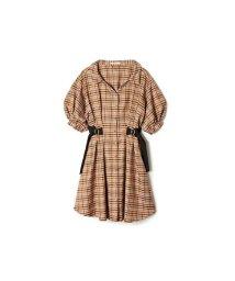 REDYAZEL/ウエストベルトシャツ衿チェックワンピース/503294604