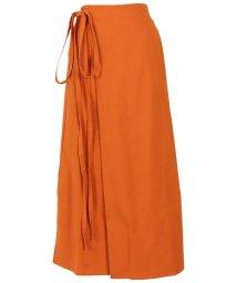 KOBE LETTUCE/リネン素材ラップスカート [M2898]/503295716
