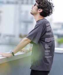 nano・universe/《WEB限定》バックプリントメッセージTシャツ/503105821