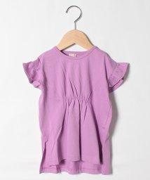 petit main/ウエストギャザーロングTシャツ/503264554