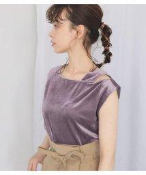 Avan Lily/細コールベロアワンショルTOPS/503301486
