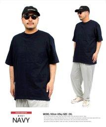 one colors/半袖 Tシャツ メンズ 大きいサイズ スーパー ヘビーウェイト 厚手 7.4オンス 無地 クルーネック カットソー おおきいサイズ スポーツ 白 黒 サマー 半/503301638