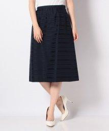 Leilian/シャドウボーダーAラインスカート/503135546