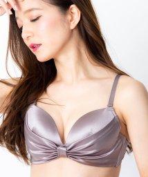 fran de lingerie/Smooth Ribbon ふわ盛スムース ブラ&ショーツセット B65-G75カップ/503276452