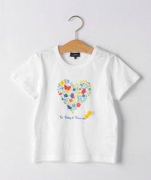 green label relaxing (Kids)/カラフルフラワーハートTシャツ/503282116