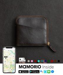 LIFE POCKET/紛失防止タグ MAMORIO搭載 ライフポケット Smart Wallet 薄い財布 スリムタイプ 財布 L字ファスナー WL002 スキミング防止RFID付き/503285495