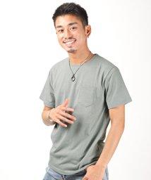 LUXSTYLE/無地ポケット付きクルーネック半袖Tシャツ/Tシャツ メンズ 半袖 ポケット 無地 クルーネック/503301850