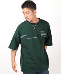 LUXSTYLE/バックフォトコラージュプリント半袖Tシャツ/Tシャツ メンズ 半袖 ビッグシルエット フォトプリント ロゴ/503301853
