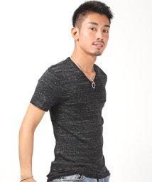 LUXSTYLE/杢フライスVネック半袖Tシャツ/Tシャツ メンズ 半袖 Vネック 杢 フライス/503301854