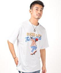 LUXSTYLE/プリントBIG半袖Tシャツ/Tシャツ メンズ 半袖 ビッグシルエット プリント イラスト/503301856