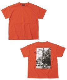 GLAZOS/天竺・ドロップショルダーバックフォト半袖Tシャツ/503302071