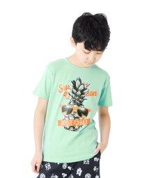 GLAZOS/フライス・パイナップル半袖Tシャツ/503302076