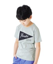 GLAZOS/天竺・フラッグプリント半袖Tシャツ/503302077