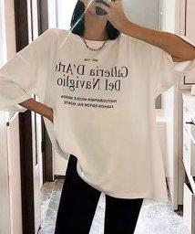 futier land/ワイドBIGリラックスロゴTシャツ/503302538
