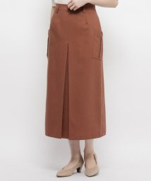 smart pink/【手洗い可】インバーテッドプリーツロングスカート/503303069