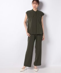 Leilian PLUS HOUSE/スタンドカラーシャツ×パンツセットアップ/503135676