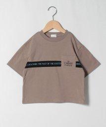 b-ROOM/ロゴライン切り替えビッグシルエットTシャツ/503216693
