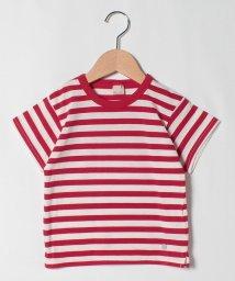 petit main/接触冷感 ボーダー柄Tシャツ/503284602