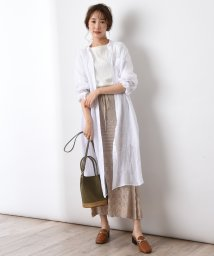 actuelselect/【blanc basque】ラミーローンロングシャツ/503292772