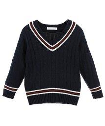 Catherine Cottage/子供服 男女兼用ライン入りスクールセーター/503298611