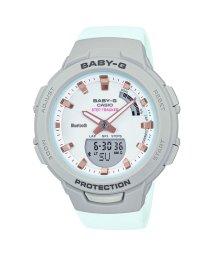BABY-G/【BABY-G】G-SQUAD(ジー・スクワッド) / スマートフォンリンク / BSA-B100MC-8AJF / ベビーG (グレー×ライトブルー)/503303116