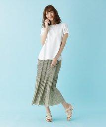 SHOO・LA・RUE DRESKIP/【M-LL/2点セット】ワッフルTシャツ+プリーツスカート/503304508