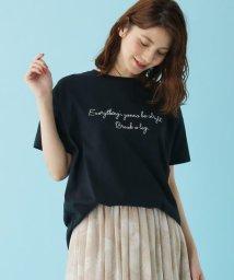 SHOO・LA・RUE/【M-L】ししゅうロゴTシャツ/503304610