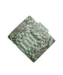 sankyoshokai/ダイヤモンドパイソンレザーベロ付き折り財布/503304623