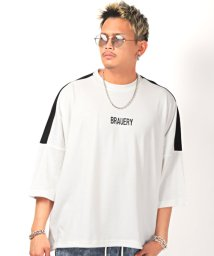 LUXSTYLE/プリントBIGTシャツ/Tシャツ メンズ 半袖 5分袖 ビッグシルエット バックプリント ロゴ/503304662