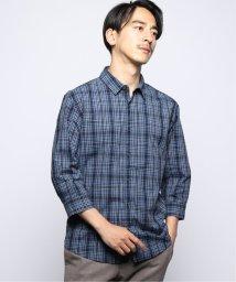417 EDIFICE/INDIGO LINEN 7/Sレギュラーカラーシャツ/503310260