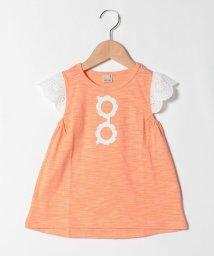 petit main/接触冷感 サングラスモチーフ袖レースTシャツ/503275305