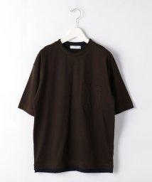green label relaxing/CSM C/LI フェイク レイヤード クルーネック 半袖 Tシャツ カットソー/503282397