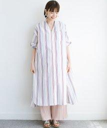 haco!/くしゅっと袖がかわいい!重ね着に便利な爽やかシャツワンピース/503287413