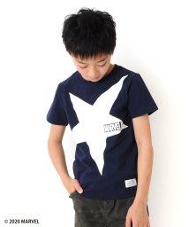 GLAZOS/天竺・【MARVEL】ビッグスターロゴ半袖Tシャツ/503313129