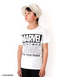 GLAZOS/天竺・【MARVEL】ボックスロゴ半袖Tシャツ/503313130