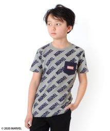 GLAZOS/天竺・【MARVEL】総柄ロゴポケット半袖Tシャツ/503313131