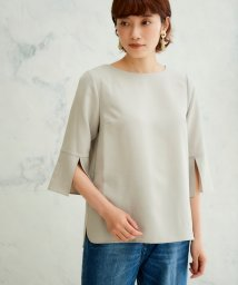 le.coeur blanc OUTLET/リネンライクスリットブラウス/503313346