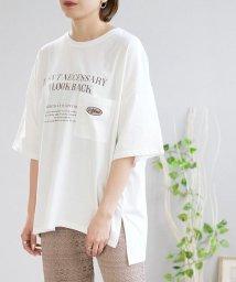 ANDJ/刺繍メッセージロゴTシャツ/503313494