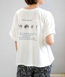 ANDJ/ムーンロゴプリントTシャツ/503313495