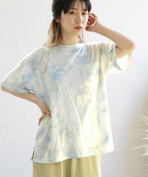 ANDJ/USAコットンタイダイ柄Tシャツ/503313496